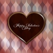 Valentines Day greeting card template — Vettoriale Stock
