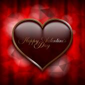 Valentines Day greeting card template — Stockvector