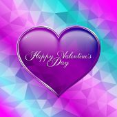 Valentines Day greeting card template — Vecteur