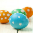 Four colored Easter eggs — Stock Photo #65580833