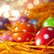 Easter background - Colored eggs  — Stock Photo #67143935