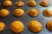 Fresh baked salty muffins — Stock Photo