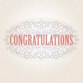 Vector vintage Congratulations card — Wektor stockowy