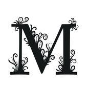 Gestileerde kalligrafische M — Stockvector