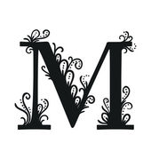 Stylized calligraphic M — Stock Vector