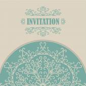 Invitation card with lace ornament. — Stock Vector