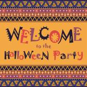Welcome to the Halloween Party — Stock Vector