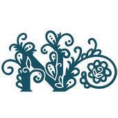 Stylized calligraphic  N. — Stock Vector
