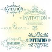 Menu or Invitation. — Stock Vector