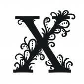 Stylized calligraphic X — Vetor de Stock