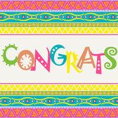 Congrats card — Stock Vector