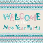 Welcome to the New Year Party — Stock Vector