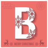 Christmas  alphabet B — Stockvector