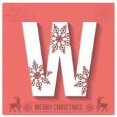 Christmas  alphabet W — Stockvector