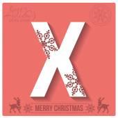 Christmas  alphabet X — Stockvector