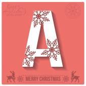 Christmas  alphabet A — Stockvector