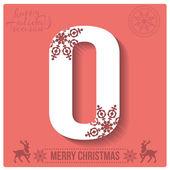 Christmas  alphabet O — Stockvector