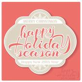 Happy Holiday Season — Stock Vector