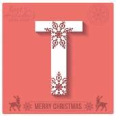 Christmas  alphabet T — Stockvector