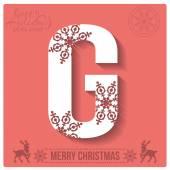 Christmas  alphabet G — Stockvector