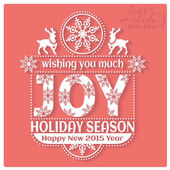 Joy Holiday season. — Stock Vector