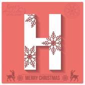 Christmas  alphabet H — Stockvector