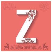 Christmas  alphabet Z — Stockvector