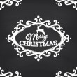 Merry Christmas on blackboard — Stock Vector #59896085