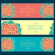 Abstract floral banners — Stock Vector #59896159