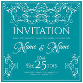 Vintage invitation card — Stock Vector