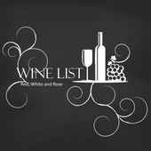 Wine list on blackboard — Vetorial Stock