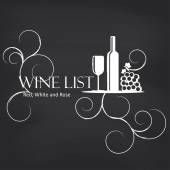 Wine list on blackboard — Stockvektor