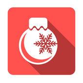 Flat Christmas ball — Stockvektor