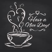 Nice day with cup of tea — Vector de stock