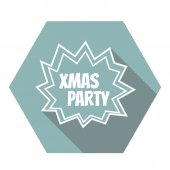 Flat Xmas Party icon — Stock Vector
