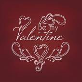 Be my Valentine card — Vettoriale Stock
