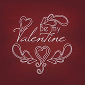 Be my Valentine card — Vector de stock