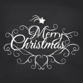 Merry Christmas on blackboard — Stock Vector