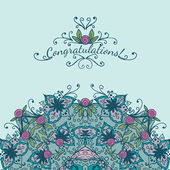 Decorative congratulations card — Vector de stock