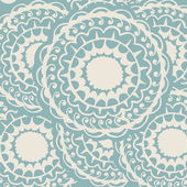 Seamless round blue pattern — Stock Vector