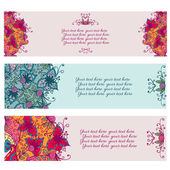 Abstract floral banners. — Stock Vector