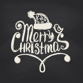 Merry Christmas on blackboard background. — Stock vektor
