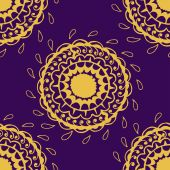 Seamless round gold pattern — ストックベクタ