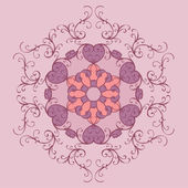 Vintage lace ornament — Stock Vector