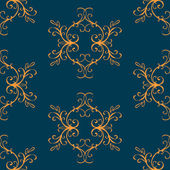 Luxury seamless vintage pattern — Stock Vector