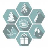 Set of flat Christmas elements — Vetorial Stock