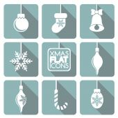 Set of flat Christmas elements. — Vector de stock