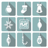 Set of flat Christmas elements. — Stock Vector