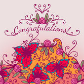 Decorative congratulations card — Wektor stockowy