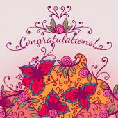 Decorative congratulations card — Vettoriale Stock